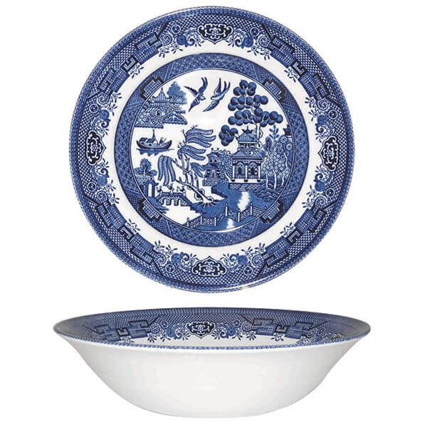 Churchill China Blue Willow Salad Bowl 24cm