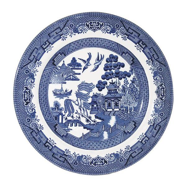Churchill China Blue Willow Salad Plate 20cm