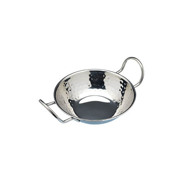 World Of Flavours Stainless Steel Balti Rice Dish, 15cm