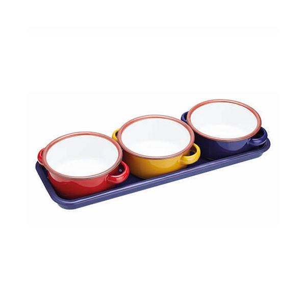 World Of Flavours Enamel Dip Bowls Set