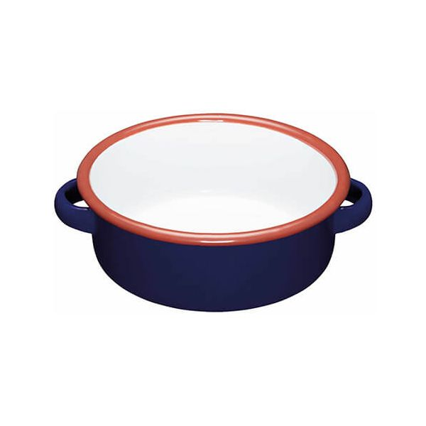 World Of Flavours Painted Blue 11cm Enamel Dish