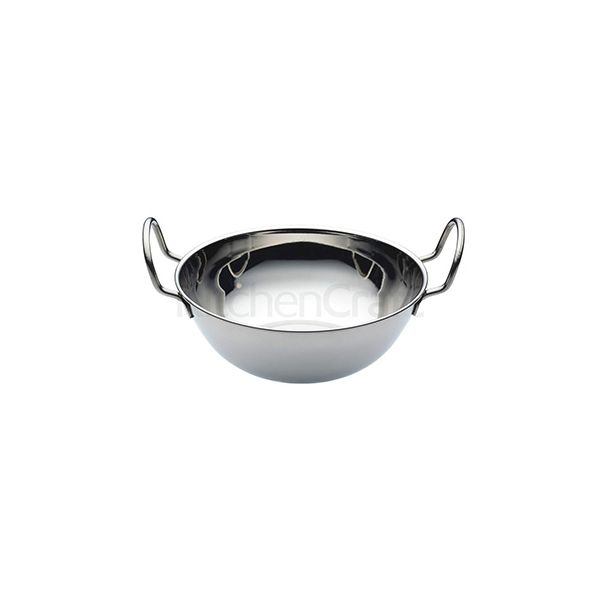 World Of Flavours Indian Medium Stainless Steel Balti Dish