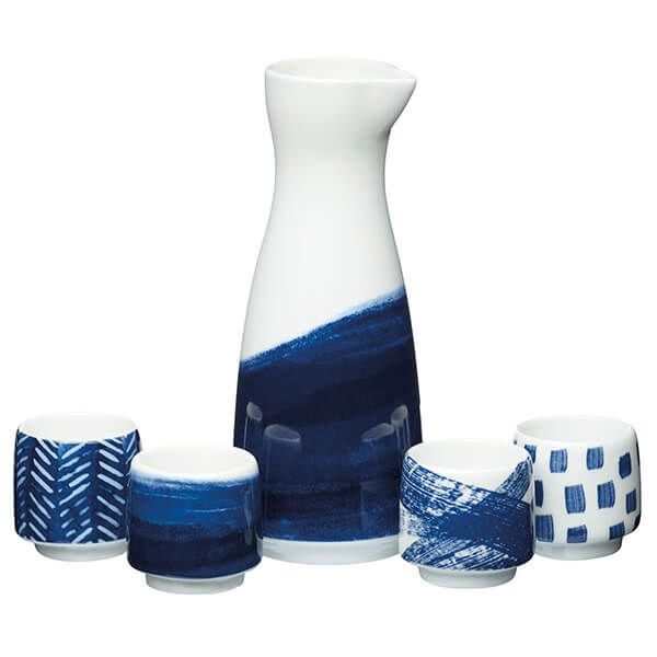 World Of Flavours 5 Piece Ceramic Sake Set