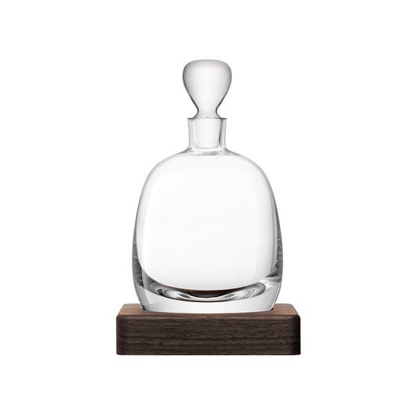 LSA Whisky Islay Decanter 1L Clear & Walnut Base