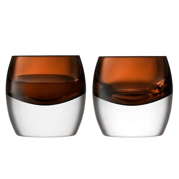 LSA Whisky Club Tumbler 230ml Peat Brown Set Of Two