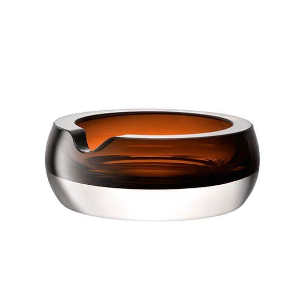 LSA Whisky Club Cigar Ashtray 17cm Peat Brown