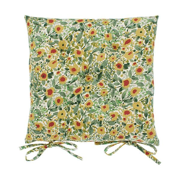 Walton & Co Wildflower Seat Pad With Ties