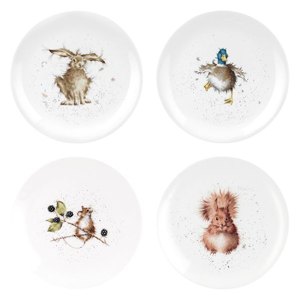 Wrendale Designs Assorted Set of 8 Inch Coupe Plates