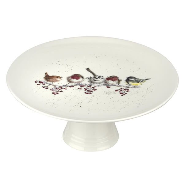 Wrendale Designs Christmas Collection Footed Cake Plate One Snowy Day