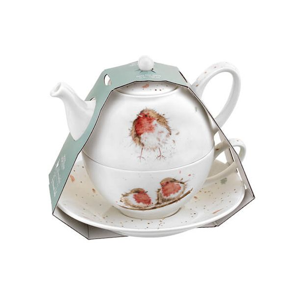 Wrendale Designs Tea for One with Saucer Robin