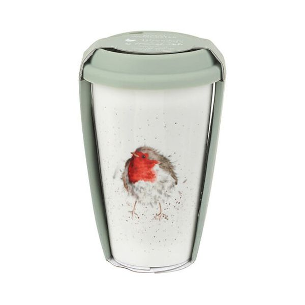 Wrendale Designs Travel Mug Robin 6 for 5