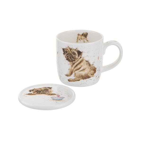 Wrendale Designs Mug & Coaster Pug Love 6 for 5