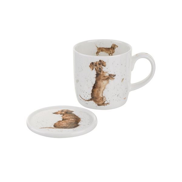 Wrendale Designs Mug & Coaster Hello Sausage 6 for 5