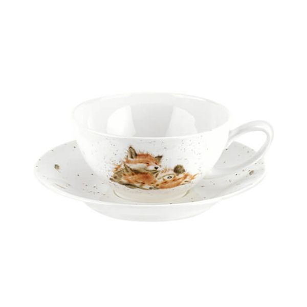 Wrendale Designs Large Cup with Saucer Foxes