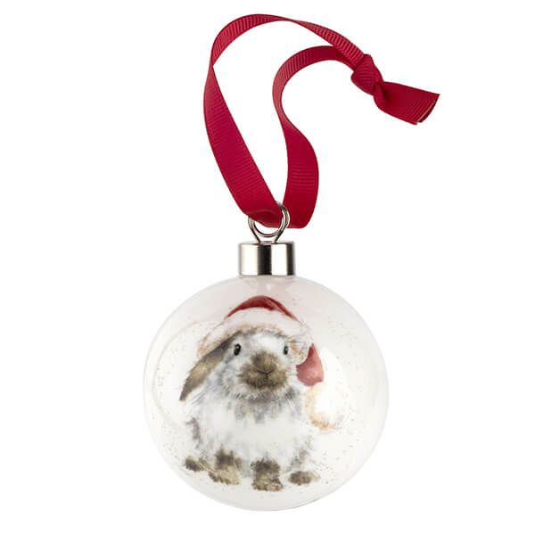 Wrendale Designs Ceramic Christmas Decoration Ho Ho Ho Rabbit