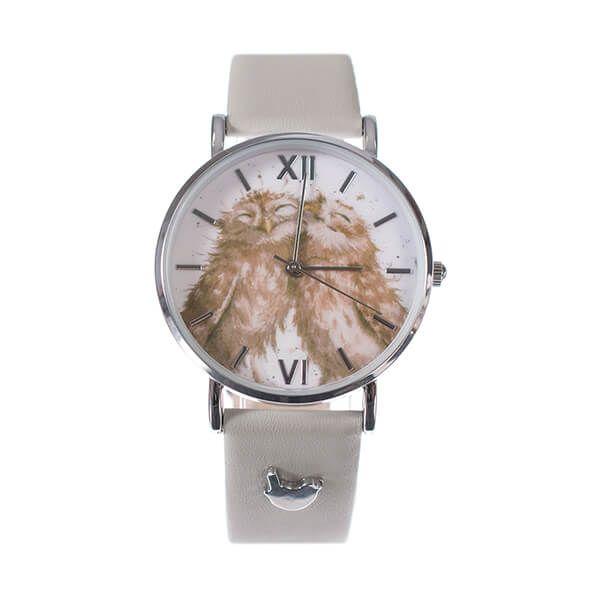 Wrendale Designs Owl Watch - Grey Vegan Leather Strap