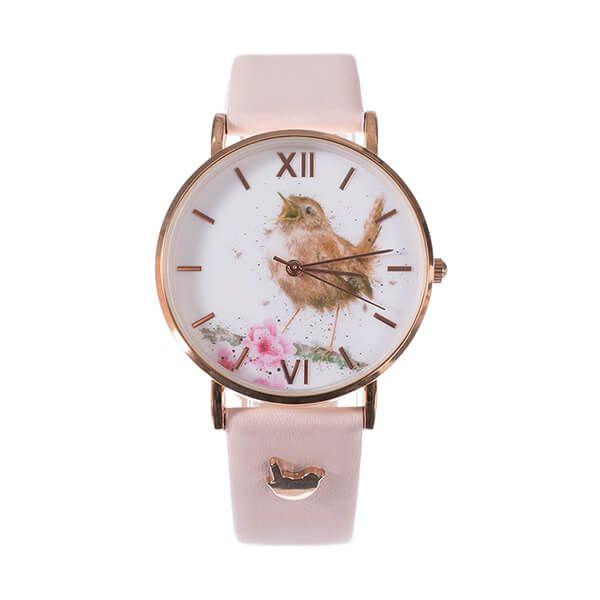 Wrendale Designs Wren Watch - Pink Leather Strap