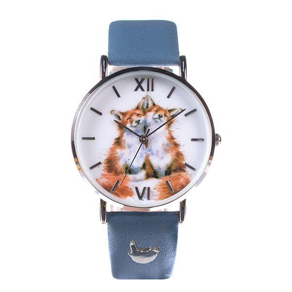 Wrendale Designs Fox Watch Navy Vegan Leather Strap
