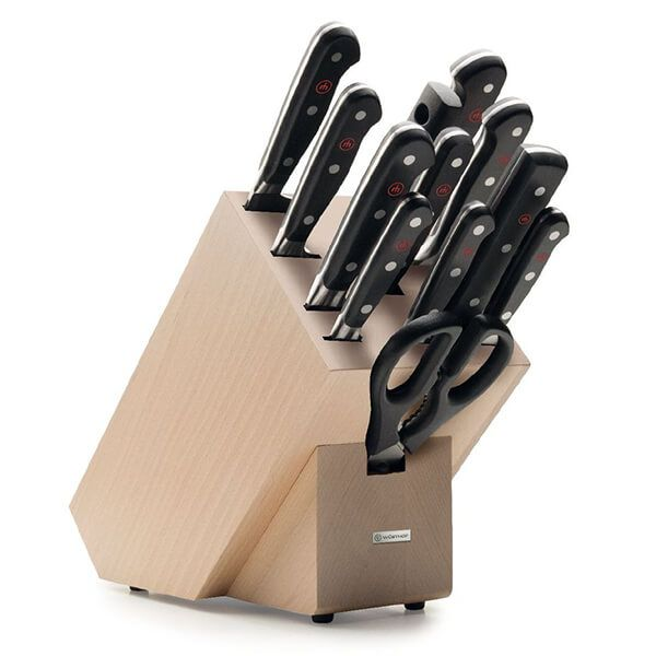 Wusthof Classic 12 Piece Knife Block Set - Beech
