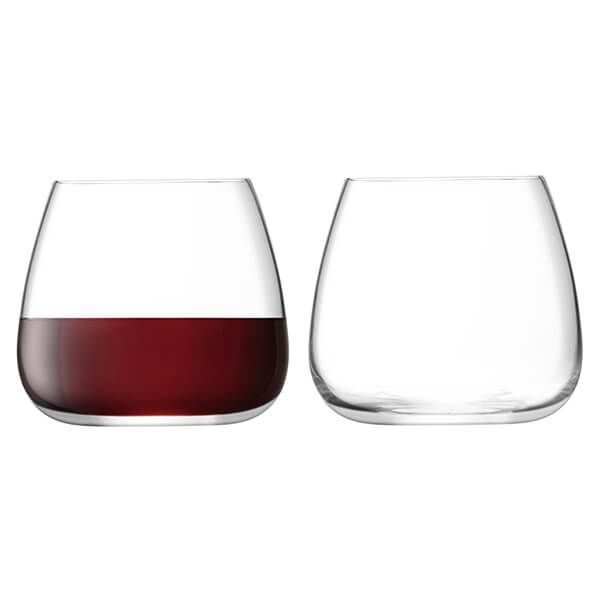 LSA Wine Culture Stemless Wine Glass 385ml Clear Set Of Two