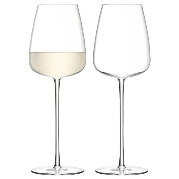 LSA Wine Culture White Wine Glass 490ml Clear Set Of Two