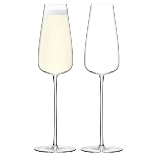 LSA Wine Culture Champagne Flute 330ml Clear Set Of Two