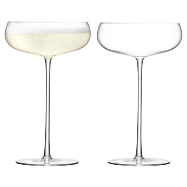 LSA Wine Culture Champagne Saucer 320ml Clear Set Of Two