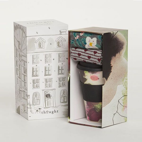 Thought Floral Bamboo Cup & Socks Gift Pack