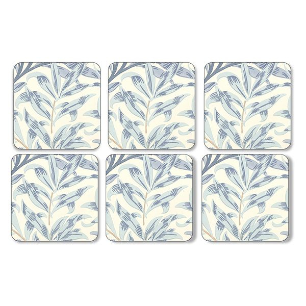 Morris & Co Willow Bough Blue Coasters Set of 6