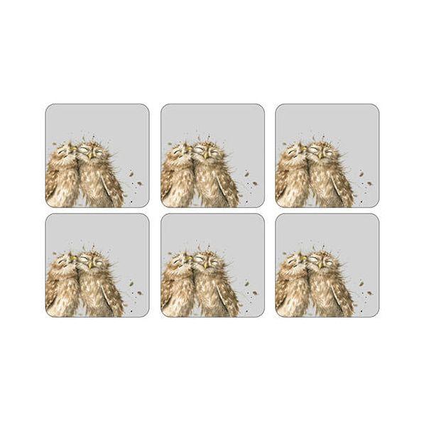 Wrendale Designs Owl Coasters Set Of 6