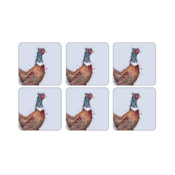 Wrendale Designs Pheasant Coasters Set Of 6