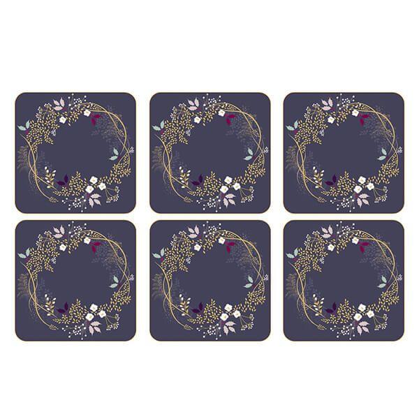Sara Miller Garland Set of 6 Coasters