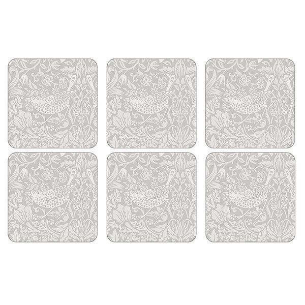 Morris & Co Pure Strawberry Thief Coasters Set of 6