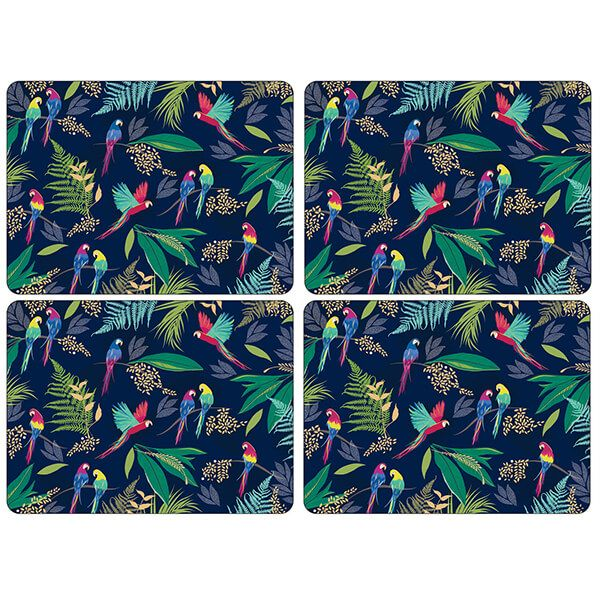 Sara Miller Parrot Set of 4 Placemats