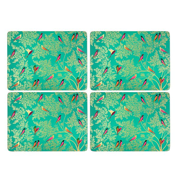 Sara Miller Chelsea Collection Set of 4 Green Placemats
