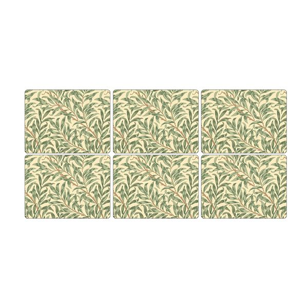 Morris & Co Willow Bough Green Placemats Set of 6
