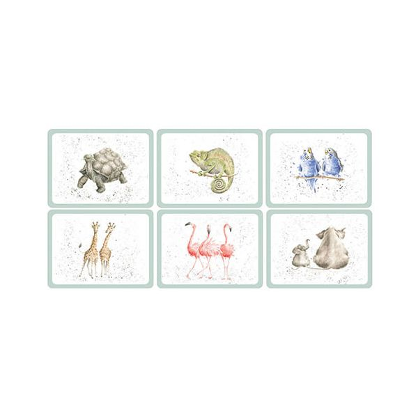 Wrendale Designs Zoological Placemats Set Of 6