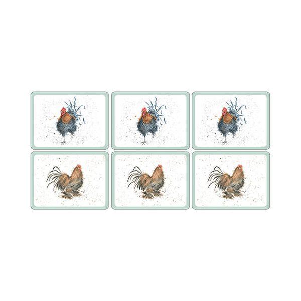 Wrendale Designs Cockerel Placemats Set Of 6