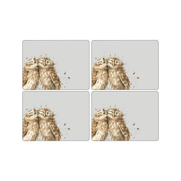 Wrendale Designs Owl Placemats Set Of 4