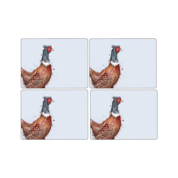 Wrendale Designs Pheasant Placemats Set Of 4