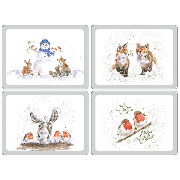 Wrendale Designs Christmas Collection Placemats Set Of 4