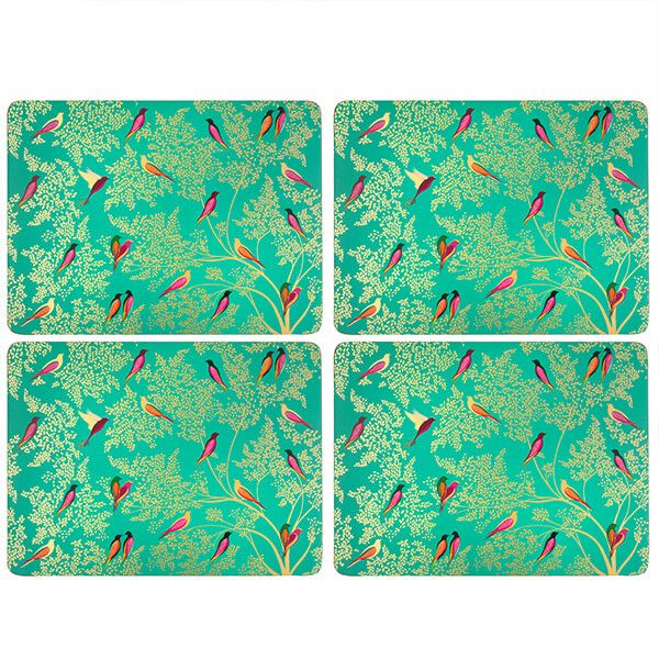 Sara Miller Chelsea Collection Set of 4 Large Green Placemats