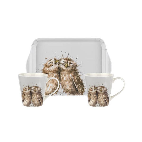 Wrendale Designs Mug & Tray Set Owl 6 for 5