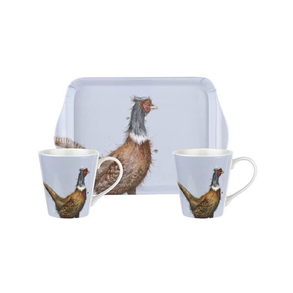 Wrendale Designs Mug & Tray Set Pheasant 6 for 5