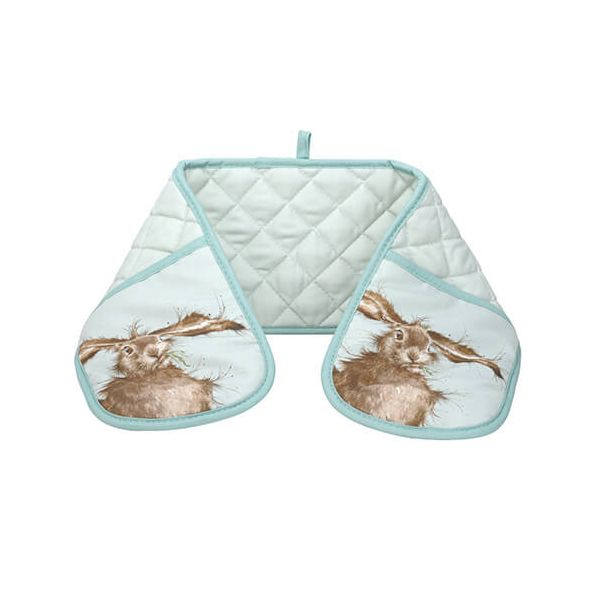 Wrendale Designs Double Oven Glove Hare Design