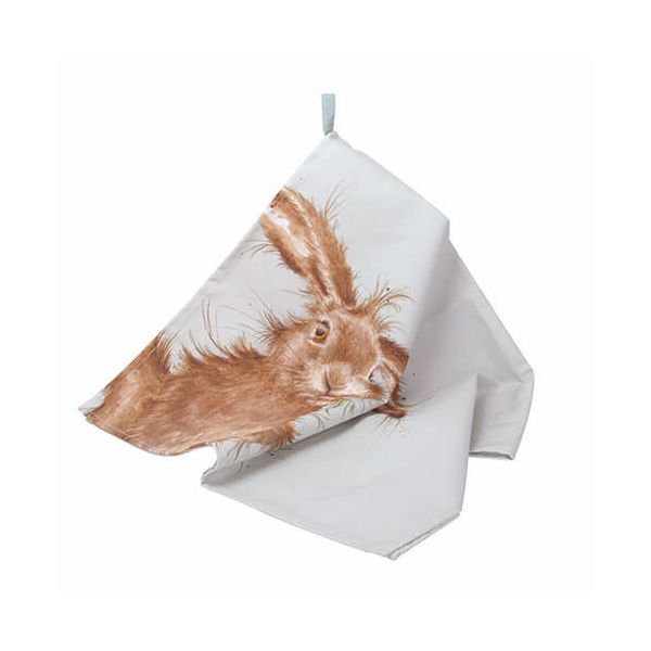 Wrendale Designs Tea Towel Hare Design