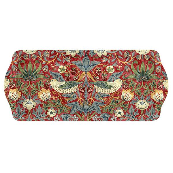Morris & Co Strawberry Thief Red Sandwich Tray