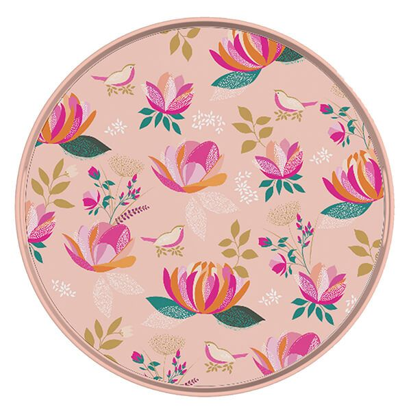 Sara Miller Peony Collection Round Tray