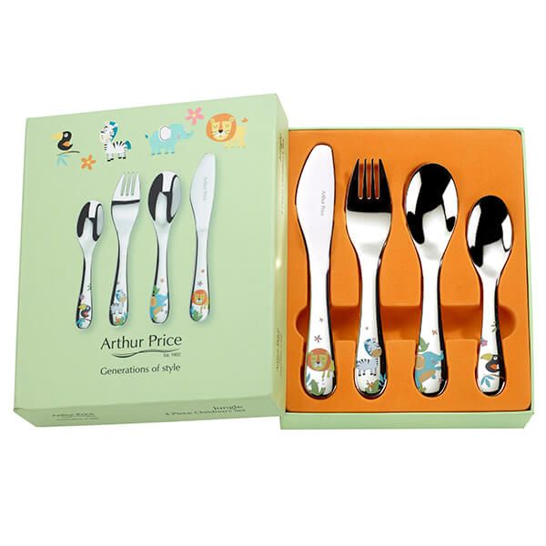 Arthur Price Jungle 4 Piece Children's Cutlery Set