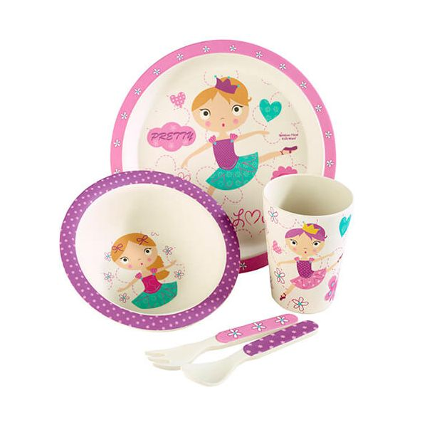 Arthur Price Bambino Ballerina 5 Piece Bamboo Childs Dining Set